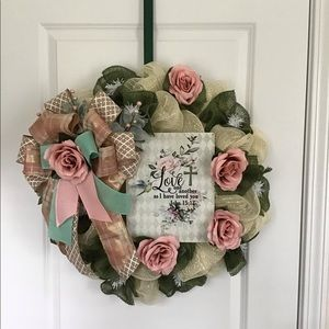 Wreath, wall hanging, Easter wreath